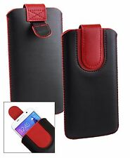 Stylish PU Leather Pouch Case Sleeve has Pull Tab for Cubot Phones
