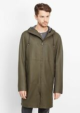 Vince - Leather Parka Brushwood Green - $1,695 MSRP - Size SMALL