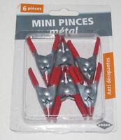 Set Lot x6 Petites Pinces Crocodile métal Brocolage Outillage NEUF