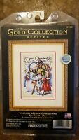 Dimensions Vintage Merry Christmas Gold Collection Petites Cross Stitch Kit 8744