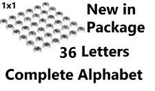 Lego Alphabet Tile Set 36 Letters Complete Lot Minifigure A-Z Dots Designer Part