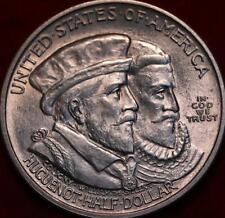 Uncirculated 1924 Philadelphia Mint Huguenot-Walloon Silver Comm Half