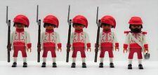Zouave 4 soldati + ufficiale a PLAYMOBIL accumulare VS SUDISTI ACW CUSTOM