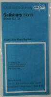 1980 Old Vintage OS Ordnance Survey 1:25000 First Series Map SU 13 Salisbury Nth