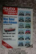 AMS Auto Motor Sport 5/79 Rover 3500 Opel Monza VW Golf Convertible