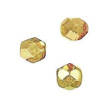 12 Perles Facettes cristal de boheme 8mm OR DOREES