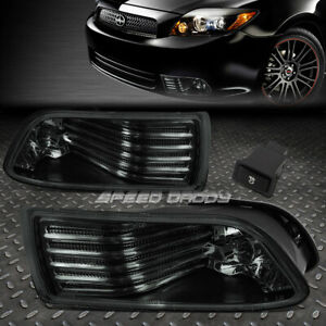 FOR 05-10 SCION TC SMOKE LENS BUMPER DRIVING FOG LIGHT REPLACEMENT LAMP W/SWITCH