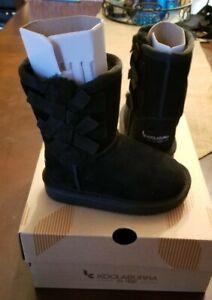 NEW TODDLER GIRLS SIZE 6 BLACK KOOLABURRA UGGS UGG VICTORIA SHORT BOOTS 1090330