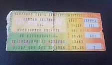 RARE 1980 BOSTON CELTICS VS WASHINGTON BULLETS IN HARTFORD CT. TICKET STUB  BIRD