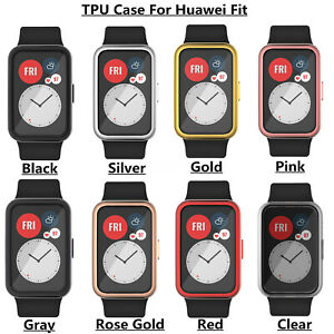TPU Screen Protector Frame Protective Cover For Huawei Watch Fit Smart Watch
