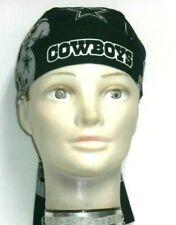 Skull Cap Dallas Cowboys on Navy Blue 100% Cotton #223 New Handmade