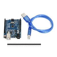 Useful Blue With USB Cable ARDUINO UNO R3 ATmega328P CH340G Development Board
