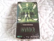 INVADER VHS SCI-FI ALIEN UFO COMPUTER SYSTEM BRAINWASHING MILITARY AIR BASE 90'S