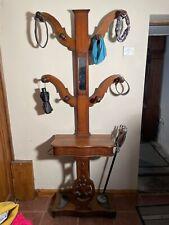 More details for antique oak hall stand