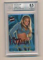 2001 Fleer WWF WWE Raw is War Femme Fatale Trish Stratus RC BGS 8.5