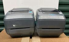 Lot Of(2) Zebra GX430T Label Thermal Network Printer no Power Supply