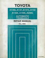 1984 TOYOTA A130L AUTOMATIK TRANSAXLE WERKSTATTHANDBUCH REPAIR MANUAL 36238E