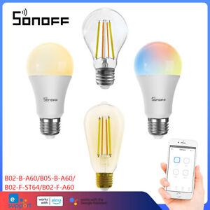 Sonoff B02-F/B02-B WIFI Smart LED Light Bulb Globe Color Dimmable E27 A19 220V
