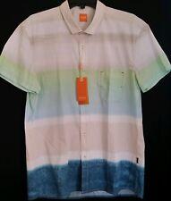 Men's HUGO BOSS ORANGE Short Sleeve S/S Shirt XL X-Large Tonal Colors NWT New
