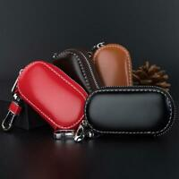 Universal Car Key Holder Leather Wallet Zip Pouch Bag Purse Keychain Case Holder