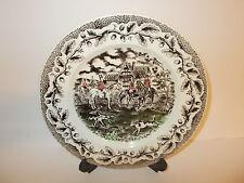 4 x vintage ENGLISH Ironstone scena di caccia grande Lato Insalata Piastre-BELLA