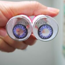 Kitty Kawaii Rainbow Violet Color Contact Lenses for Cosplay, Party
