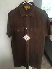 BNWT Mens Gabicci Two Pocket Polo Shirt. Size Small. Brown. Rrp £39.00