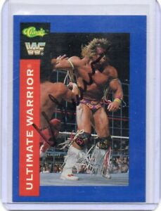 THE ULTIMATE WARRIOR 1991 CLASSIC AUTOGRAPH HAND SIGNED SUPER RARE! SUPERSTAR
