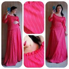 Beautiful 1960s 1970s rose red gypsy style maxi dress sz Medium Uk 12 14