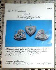 VINTAGE 1978 UNOPENED ROMANTIC HEARTS & FLOWERS EMBROIDERED FRAGRANCE SACHET KIT