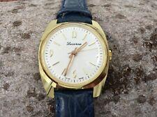 Lucerne handwinding swiss made watch NOS - green leather strap