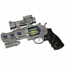 Pistolet revolver gun de policier de l'espace son et lumière costume déguisement