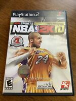 NBA 2K10 (Sony PlayStation 2) PS2 GAME COMPLETE w/MANUAL KOBE BRYANT BASKETBALL