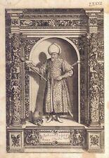 Mehemet Sofologli Bizier- Incisione originale G.B. Fontana, D. Custos 1600