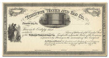 Tidioute Water and Gas Co. Stock Certificate (1870's)