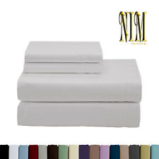 Luxury Soft 4pcs 2700 TC Fitted SHEET SET DOUBLE QUEEN KING 40cm Pocket