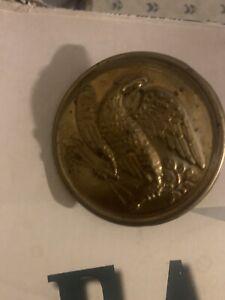"US civil war era 2 1/2"" brass eagle with leaded back Belt Buckle"