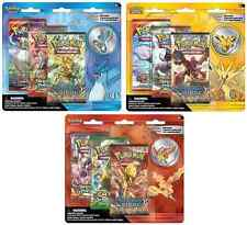 Pokemon 3-Booster Blister Packs Articuno Zapdos Moltres Set of 3 Sealed!