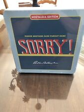 SORRY Nostalgia Edition Board Game, New In Wrapper