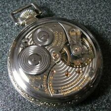 1920's BALL Official rail road standard antique Pocket Watch White Gold filled