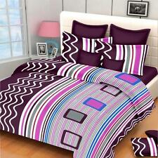 Exporthub Pure Cotton Double Bedsheet,Bedcover,Bed sheets with 2 Pillow Cover
