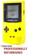 NEW GLASS SCREEN --- NINTENDO GAME BOY COLOR YELLOW CGB -- RESTORED PERFORMANCE
