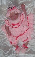 "Crochet pattern Baby/Reborn DressHat ""Strawberry Crush"" CRO133 Frandor Formats"