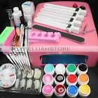Professional 36W UV GEL Pink Lamp +12 Color Gel Nail Art Tool Kits Manicure Set