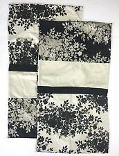 "2 Laura Ashley Lifestyles Malena King Pillow Sham Black Ivory Leaves 20""x35"""
