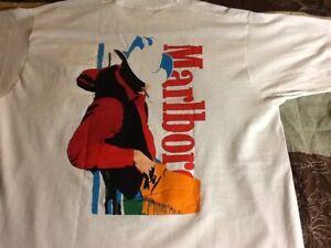 Vintage *90's Marlboro Cigarettes Promotional Cowboy (Non Japanese) T Shirt XL