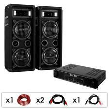 KIT DJ PA 1200W AMPLIFICATORE ALTOPARLANTI DIFFUSORI ACUSTICI AUDIO PRO KARAOKE