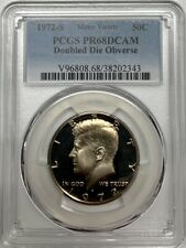 1972 S Kennedy Proof Half Dollar PCGS PR68 DCAM DDO Minor Variety Registry Coin