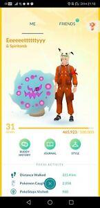 Pokémon Go PTC account shiny moltres Lugia shiny spiritomb tyranitar zapdos