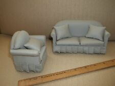 TRADITIONAL SOFA AND CHAIR -  DOLL HOUSE  MINIATURE